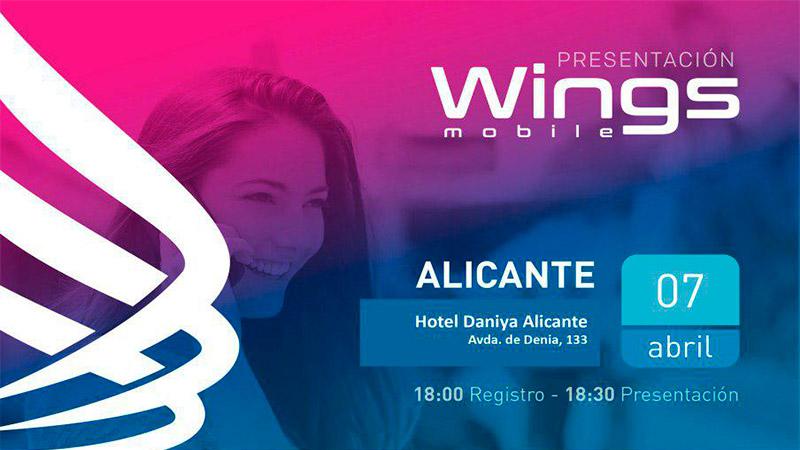 WINGS MOBILE – Presentación en Alicante